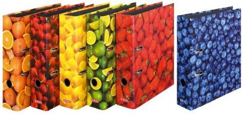 Herlitz - Ordner maX.file A4 8cm Früchte sortiert 6 Stück sortiert