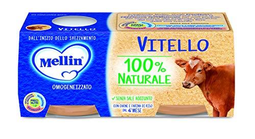 Mellin Omogeneizzato di Vitello 100% Naturale – 24 Vasetti da 80 gr