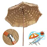 145cm Tropischer Sonnenschirm Hawaii Strandschirm, Hula Strandschirm Patio, Sonnenschirm Für Rasen Pool Garten Garten Sonnenschirm Mit Kippmechanismus