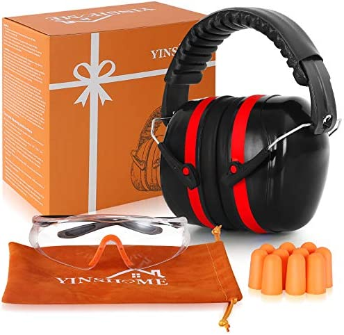 YINSHOME Shooting Range Ear Protection Earmuffs Earplugs for Shooting Range Shooting Glasses product image