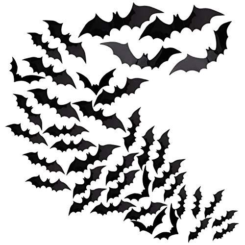 Gaosaili 6 Pcs Halloween Bat Decoration 3D Bats Hanging Toy Prop Ceiling Bar Decoration Party Favors