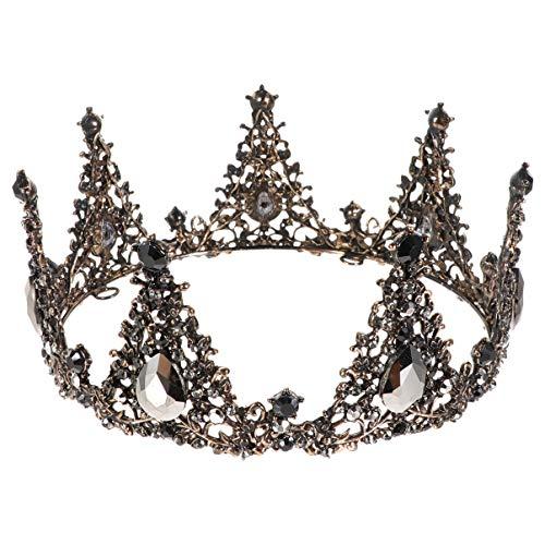 FRCOLOR Boda Barroco Tiara Retro Barroco Coronas Nupcial Corona Diadema Vintage Cristal...