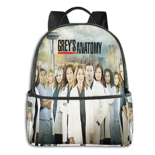 Grey'S Anatomy - Mochila para niños y niñas, con diseño de todos los personajes