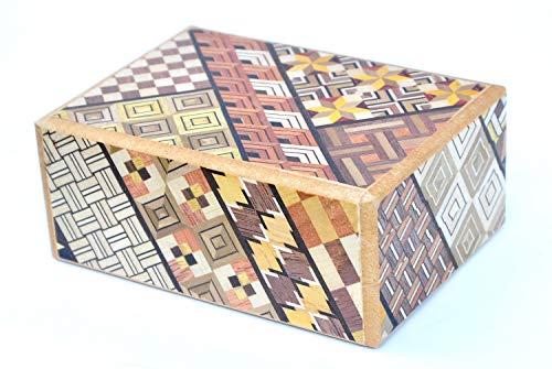 LOGICA GIOCHI Art. Cofre Yosegi 10 - La Caja Secreta - Rompecabezas de Madera - Caja Japonesa 10 Etapas