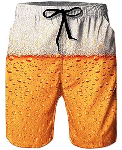 Goodstoworld Herren Beach Shorts 3D Bunte Grafik Badehose Hässliche Lustige Strand Shorts Laufende Schwimmen Beiläufige Kurze mit Einstellbare Kordelzug L