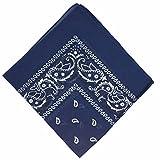 Boolavard 50% Ermäßigung - National Cotton Bandana Paisley Doppelseitige Leiter Verpackungs-Schal-Halstuch-Armband (Blau)