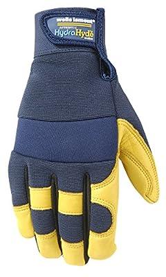 Wells Lamont Men's Hydrahyde Waterproof Leather Work Gloves