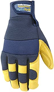 Men's HydraHyde Leather Work Gloves, Water-Resistant, Large (3207L)