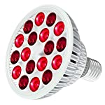 Bestqool Red Light Therapy Bulb, 660nm & 850nm 18 LEDs 38W Near Infrared Led Light Therapy, High Irradiance Red Light Bulb for Face, Skin Health and Pain Relief