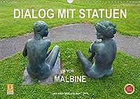 Dialog mit Statuen von Malbine (Wandkalender 2022 DIN A3 quer): Eine lebende Statue besucht eine Ausstellung (Monatskalender, 14 Seiten )