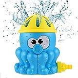 Neusky Garten Wassersprinkler Wasserspielzeug für Kinder Baby und Hund im Sommer (Krake-Blau)