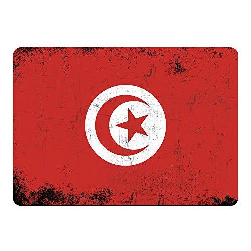 Muismat vlag retro Tunesië gekleurd