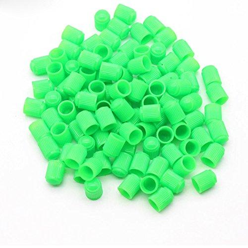 Dsycar Elegante Tapas de Válvula de Plástico Motocicleta Bicicleta Neumáticos de Coche Rueda Válvula Vástago Tapones de Polvo para Car Styling Decoración - 100 Unids/Lote- (Verde)