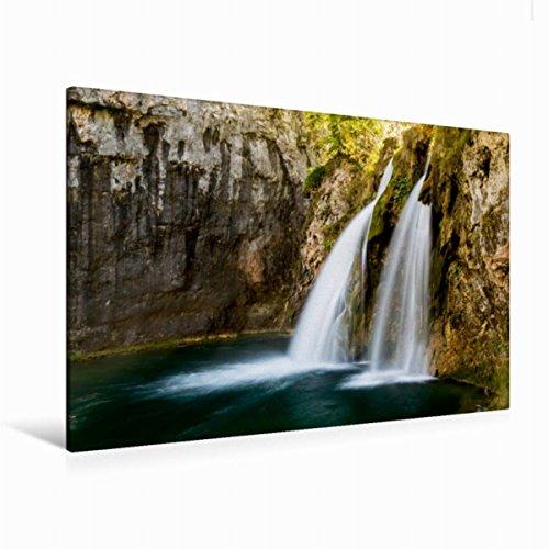 Premium Textil-Leinwand 120 x 80 cm Quer-Format Herbstimpressionen Plitvicer Seen | Wandbild, HD-Bild auf Keilrahmen, Fertigbild auf hochwertigem Vlies, Leinwanddruck von Franz Kaufmann