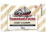 Fisherman's Friend Sugar Free Refreshing Honey & Lemon Flavor Cough Lozenges, 25g pack, (Pack of 24)