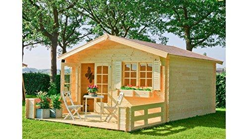 OUTDOOR LIFE PRODUCTS Gartenhaus Montana 3, BxT: 390x390 cm, 40 mm Natur