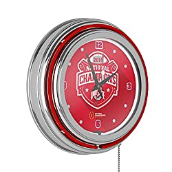 Trademark Gameroom Ohio State University National Champions Chrome Neon Clock