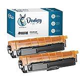 Donkey pc 2 X TN241BK TN-241BK Cartucho de Toner Compatible para Brother HL3140CW, HL3150CDW, HL3170CDW, DCP9015CDW, DCP9020CDW, MFC9330CDW, MFC9140CDN y MFC934CDW (5000 Páginas)