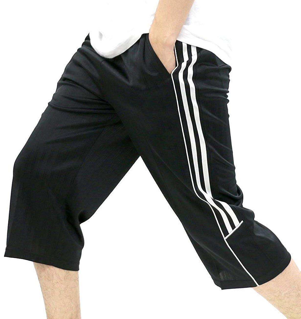 酸化物日記スリル[シーシーエル] ジャージ ショートパンツ 7分丈 ハーフパンツ メンズ
