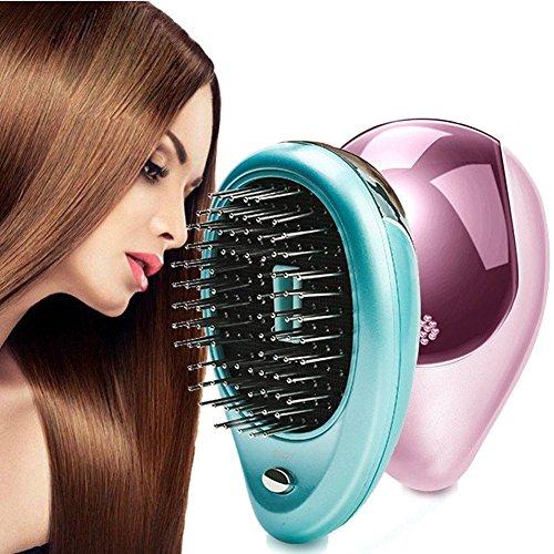 LPWORD Tragbare Elektrische Ionische Haarbürste Takeout Mini-Ionen Haarbürste Kamm Massage Klein,Pink