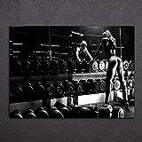 XCSMWJA 1 Pièce d'art Toile Imprimé Matériel Musculation Wall Art Décoration Peinture Toile Photo Poster 70 * 100Cm