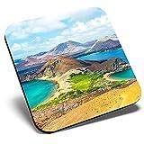 Posavasos cuadrado grande de la isla de Bartolomé Galápagos Ecuador   Posavasos de calidad brillante   Protección de mesa para cualquier tipo de mesa #44226