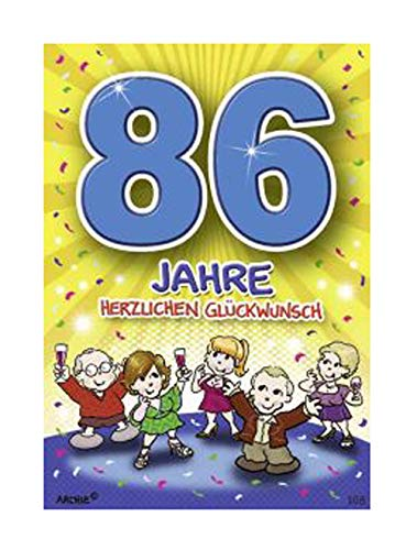 Depesche 5598.108 - Glückwunschkarte mit Motiv von Archie, 86. Geburtstag