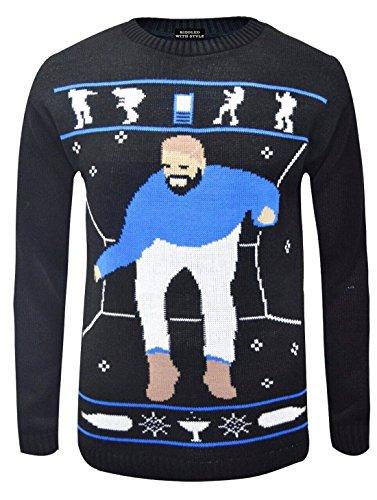 RIDDLEDWITHSTYLE TM® Unisex Drake Heup Hotline Bling Kerst Jumper Dames Heren Leuk Lelijke Trui Top