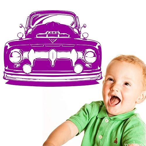 Pegatinas de pared para dormitorio, niñas adolescentes, camión, coche clásico, Hot Rod, pegatinas, baño, hogar, decoración extraíble, regalo, refrigerador, cumpleaños, acrílico, dormitorio, 38x55cm