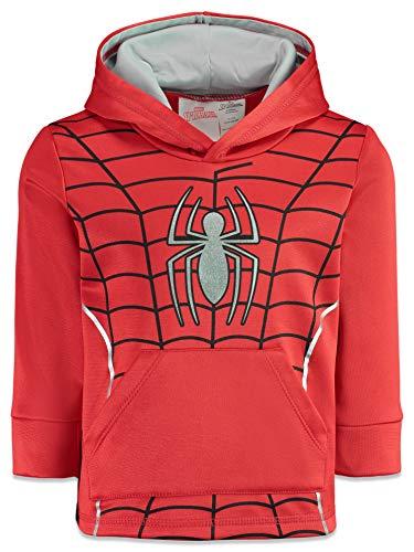 Marvel Spiderman Little Boys Athletic Fleece Pullover Hoodie Pockets 6
