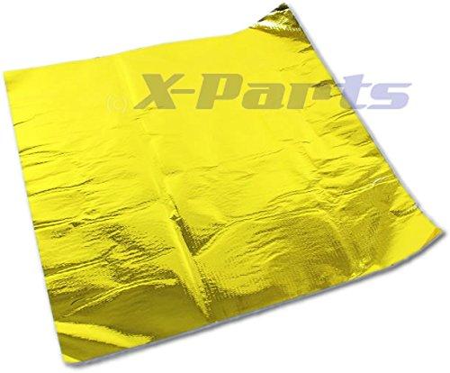 X-Parts GOLD Hitzeschutzmatte 50cm x 50cm Reflektierend Hitzeabweisend 1016095