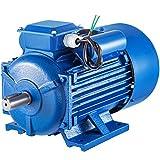 VEVOR Motor Eléctrico Asíncrono Monofásico, 3,7 kW Motores Eléctricos Monofásicos 1.440 RPM Motor Monofásico 220 V Motor Eléctrico Monofásico 50 Hz Motores Monofásicos Motor Eléctrico para Ventilador