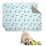 Geyecete Alfombras de adiestramiento Ultraabsorbente para Perros,Reutilizables Lavables de Almohadillas para caninas Cachorros,Empapadores Entrenamiento Impermeable para Mascotas-Azul-L-2 Piezas