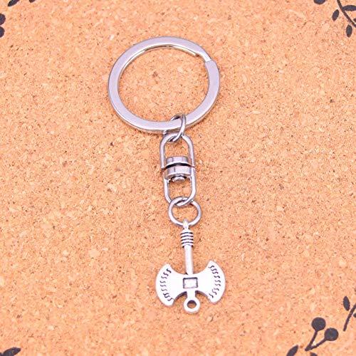 N/ A Charmante Neuheit Silber Farbe MetallAxt Axt Schlüsselanhänger Zubehör & verchromte Schlüsselringe