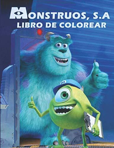Monstruos, S.A libro de colorear: Regalo de Navidad perfecto con papel de...