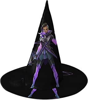 Sombra Overwatch Halloween Witch Hat Party Cosplay Cap Decoration For Boys Girls Adults 1 PCS