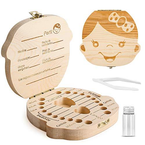 Caja para guardar dientes para niños y niñas, Regalo...