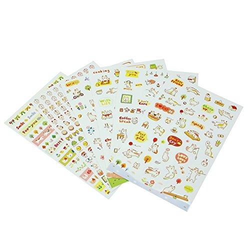 Stickers voor de auto van het dagboek van Feel Good van Children's Sticker 6 vellen ca. 360 stuks.