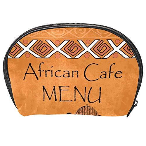 TIZORAX Sac à main pratique pour le voyage avec menu de Cofe africain