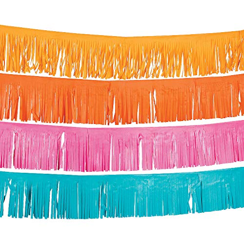 Fun Express - Fiesta Fringe Garland for Cinco de Mayo - Party Decor - Hanging Decor - Garland - Cinco de Mayo - 4 Pieces