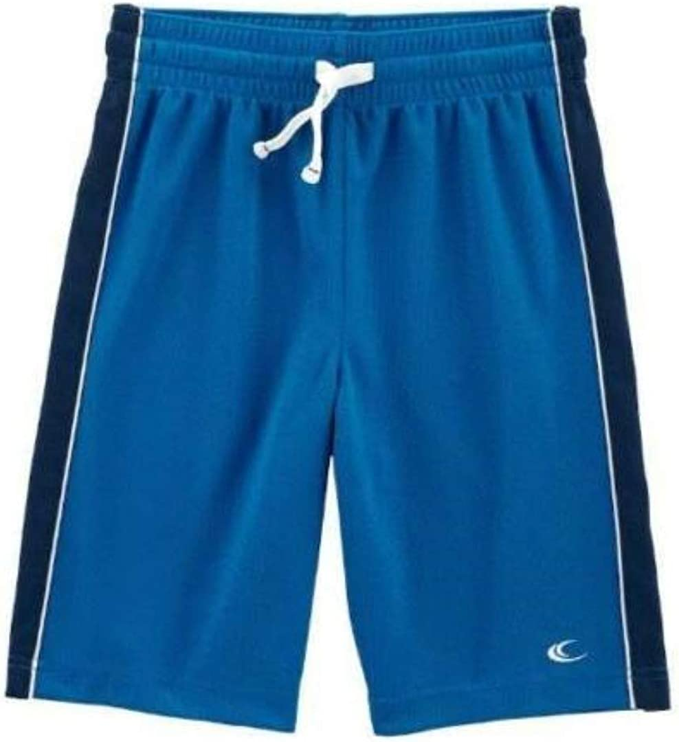 Carter's Boys Blue Mesh Drawstring Elastic Waist Athletic Shorts