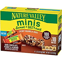 Nature Valley Sweet & Salty Nut Minis, Dark Chocolate Peanut & Almond, 7.5 oz