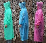 Chubasquero Impermeable Poncho de Lluvia Reutilizable Material Color Azul,Ros...