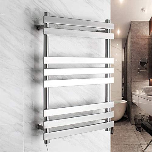 Toallero Eléctrico Toalla de baño Calefacción Talladora de secado, 304 Acero inoxidable...