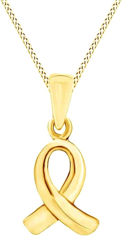 Wishrocks 14K Gold Over Sterling Silver Ribbon Awarene Fees free Pink Hope Tulsa Mall