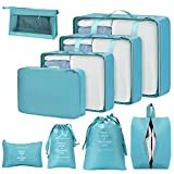 Storage Bag Organizers, Foldable Blanket Storage Organizers with Breathable Mesh Window, Sturdy Zippers
