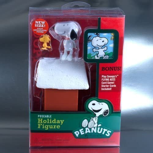 Peanuts Charlie braun Christmas Snoopy With Woodstock and Doghouse Deluxe Action Figure by Forever Fun by Forever Fun