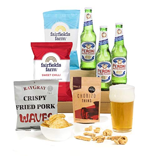 Hay Hampers Peroni Lager Beer & Snacks Gift hamper