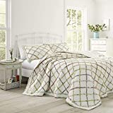 Laura Ashley Home | Ruffle Garden Collection | Luxury Premium Ultra Soft Quilt Coverlet, Comfortable & Lightweight All Season Bedspread, Full/Queen, Cream