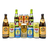 German Low Alcohol Radler Beer Mixed Case with Official Glass (10 Pack) - Fruh, Flensburger, ABK, Rothaus & Schofferhofer